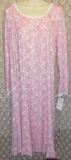 Eileen West S M Nightgown Ballet Long Sleeve SOFT Modal White Red Print NWT $64