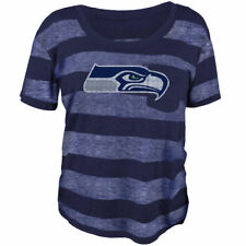 Seattle Seahawks Juniors Navy Blue Bolder Burnout T-Shirt - NFL