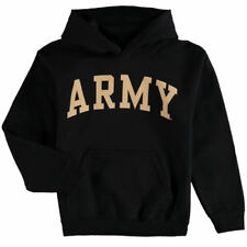 Army Black Knights Youth Black Basic Arch Pullover Hoodie - College