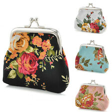 Canvas Women Flower Coin Wallet Change Purse Hasp Clutch Small Wallet Bags CHI