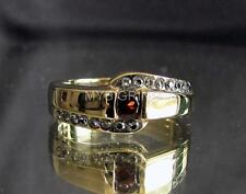 ELEGANT BRONZE BAND RING WITH 17 SPARKLING CZ CUBIC ZIRCONIAS