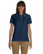 New Devon & Jones Pima S/S Tipped Polo Shirt Sizes 2XL+
