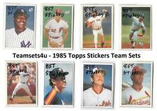1985 Topps Stickers Baseball Set ** Pick Your Team **
