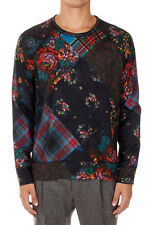 MARC JACOBS Men Crewneck Floral Pattern Long Sleeve T-Shirt Tee Italy Made