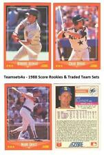 1988 Score Rookie & Traded Baseball Set ** Pick Your Team **