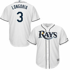 Majestic Evan Longoria Tampa Bay Rays White Cool Base Player Jersey - MLB