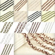 2m Unfinished Bulk Rollo Chain Necklace Craft Jewelry Making Findings DIY YB