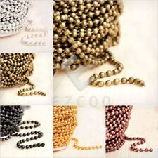 4m 13.12feet Unfinished Chain Necklace Ball Curb Flat Cable Rollo Woven Lots YB