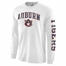 Auburn Tigers White Distressed Arch Over Logo Long Sleeve Hit T-Shirt - College