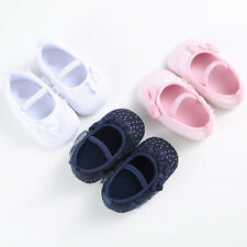 New Baby Girl Bow-knot Canvas Shoes Sneaker Anti-slip Soft Toddler Dress Shoes