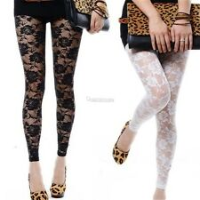 Fashion Lace Women Skinny Slim Stretch High Waist Pencil Pants Leggings Trousers