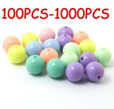 Wholesale 1000Pcs Mixed Acrylic Loose Spacer Beads Plastic Round Beads 8mm
