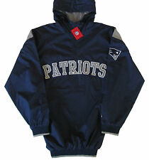 New England Patriots NFL Hooded Pullover Quarter-Zip Jacket Adult Large Tall-NWT