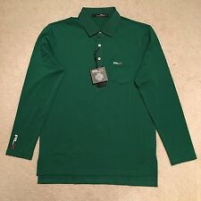 RLX Ralph Lauren Long Sleeved Pocket Polo Shirt - Green Size S - XXL RRP: £80.00