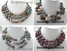 """X0289 48"""" 16mm baroque freshwater cultured pearl necklace"""