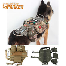 Military Dog Army Mesh Dog Training Molle Vest Clothes Load Bearing W Pouches