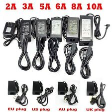2A/3A/5A/6A/8A/10A DC 12V Power Supply Charger Transformer for LED Strip Lights