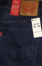 NEW Levis 569 Loose Relaxed Straight Leg Distressed Men's Blue Jeans 32 34 36