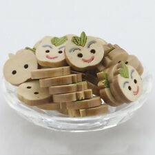 2 Holes Buttons Sewing Accessories Apple Shape Wood Sewing Buttons