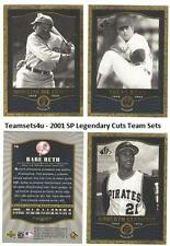 2001 SP Legendary Cuts Baseball Set ** Pick Your Team **