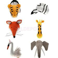 Novelty 3D Felt Animal Head Wall Plaques Home Party Room Decor Funny Gift
