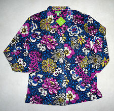 NWT Vera Bradley African Violet  Purple Blue Cotton Pajama Top Small  $30