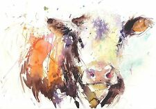 JEN BUCKLEY signed LIMITED EDITON PRINT of my original Dairy Cow