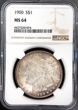 1900 Morgan Dollar certified MS 64 by NGC! Nice toning! NO RESERVE!
