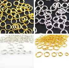 Wholesale Silver/ Gold Plated Double Jump Split Rings Connectors 5/6/7/8/10mm
