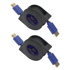 Retractable HDMI Male to HDMI Male V1.4 1080P Flat Cable For XBOX PS3 DVD HDTV