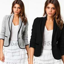 Office Lady Spring Autumn Career Business Formal One Button Blazer Suit Outwear