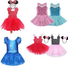 Girls Kids Minnie Mouse Mermaid Ballet Xmas Fancy Dress Up Party Costume
