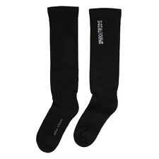 RICK OWENS New woman black 100% Wool Socks Made in Italy NWT