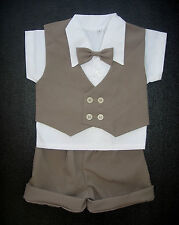 BABY BOY OUTFIT Brown Special Occasion Suit Wedding Clothing Boys Formal Wear