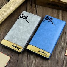 Fashion Design Men Wallet Casual PU Leather Long Credit Card Stitching Wallet BH