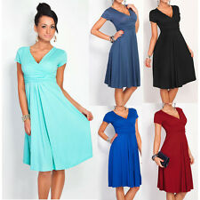Women Fashion Pleated Short Sleeveless Party Dress Evening Cocktail Casual Dress