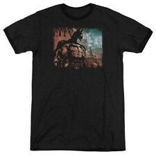 Arkham City Batman City Knockout Mens Adult Heather Ringer Shirt Black