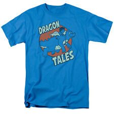 Dragon Tales Flying High Mens Short Sleeve Shirt Turquoise