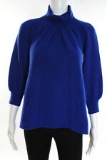 Jamison Blue Cashmere Pullover Turtleneck Sweater Size Small