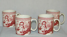 Set of 4 ~ Spode for Williams-Sonoma Christmas ST NICK MUGS ~ Free Shipping