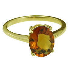 Solid Gold Madeira Citrine Solitaire Engagement 2.19 ctw Ring GSR393