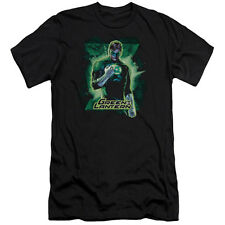 Justice League Green Lantern Brooding Mens Slim Fit Shirt Black