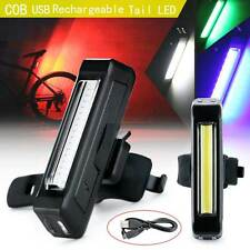 USB Waterproof LED Bicycle Bike Front Rear Tail Light Rechargeable Warning Lamp