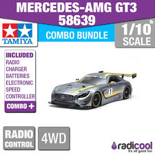 COMBO KIT! 58639 TAMIYA MERCEDES-AMG GT3 RACE CAR TT-02 R/C RADIO CONTROL 1/10th