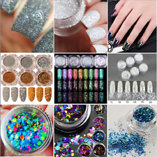 New DIY Nail Art Glitter Powder Dust For UV GEL Acrylic Powder Decoration Tips