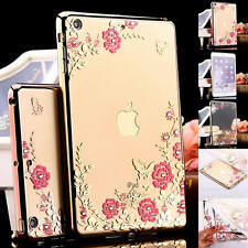 Crystal Flower Soft TPU Silicone Case Clear Cover For Apple iPad Mini 2 3 4 Air