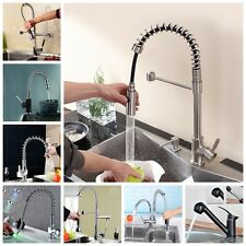 Luxury Monobloc Faucet Mixer Tap Swivel Pull Out Spray Brass Kitchen Sink Basin