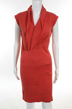 BCBG Max Azria Coral Sleeveless Cowl Neck Sweater Dress Size Extra Small