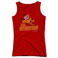 Mighty Mouse I'M Mighty Juniors Tank Top Shirt RED