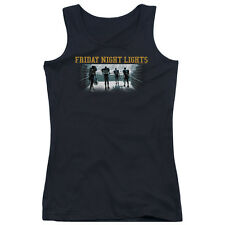 Friday Night Lights Game Time Juniors Tank Top Shirt BLACK